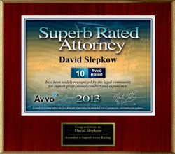 Superb rated attorney by AVVO